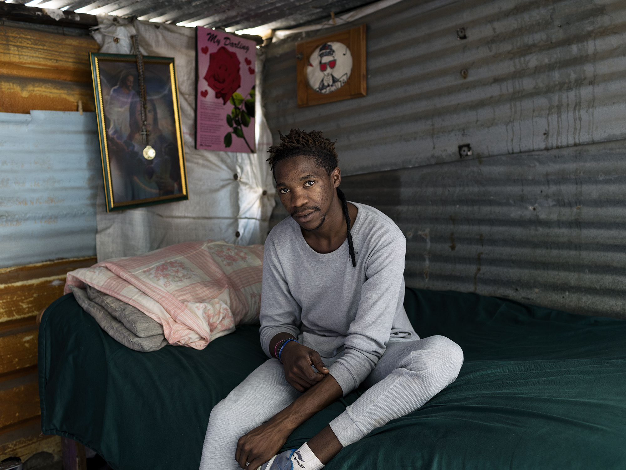 Andile Mswazi, 26, Rapper and Hip-Hop artist, Ikemeleng, Marikana, North West, Western Limb