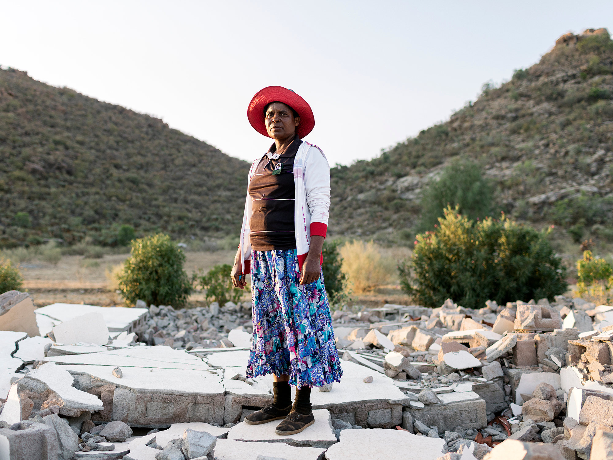 Lettie Sitole, 67, Relocated from Makobakobe Village to Magobading Township in 2003, Limpopo, Eastern Limb