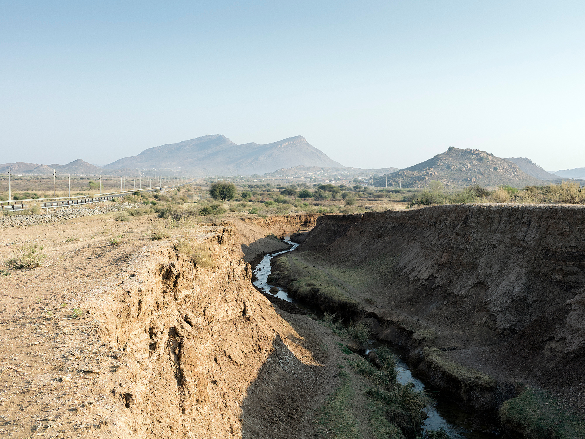 Polluted mine stream, Ditwebeleng, Limpopo, Eastern Limb