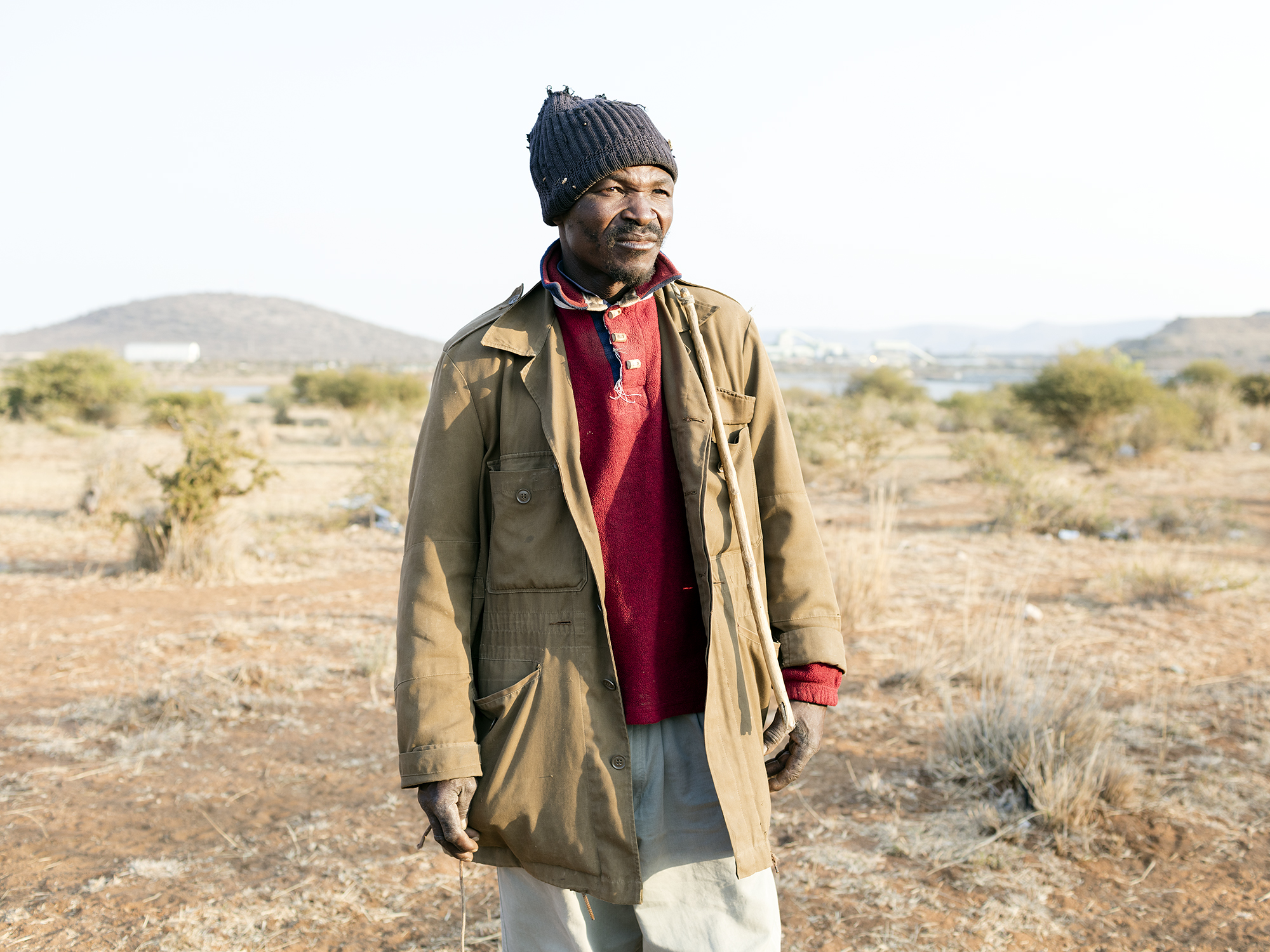 William Nkuna, 51, head herdsman in the community of Ga-Molekane Village, Mapela, Limpopo, Northern Limb