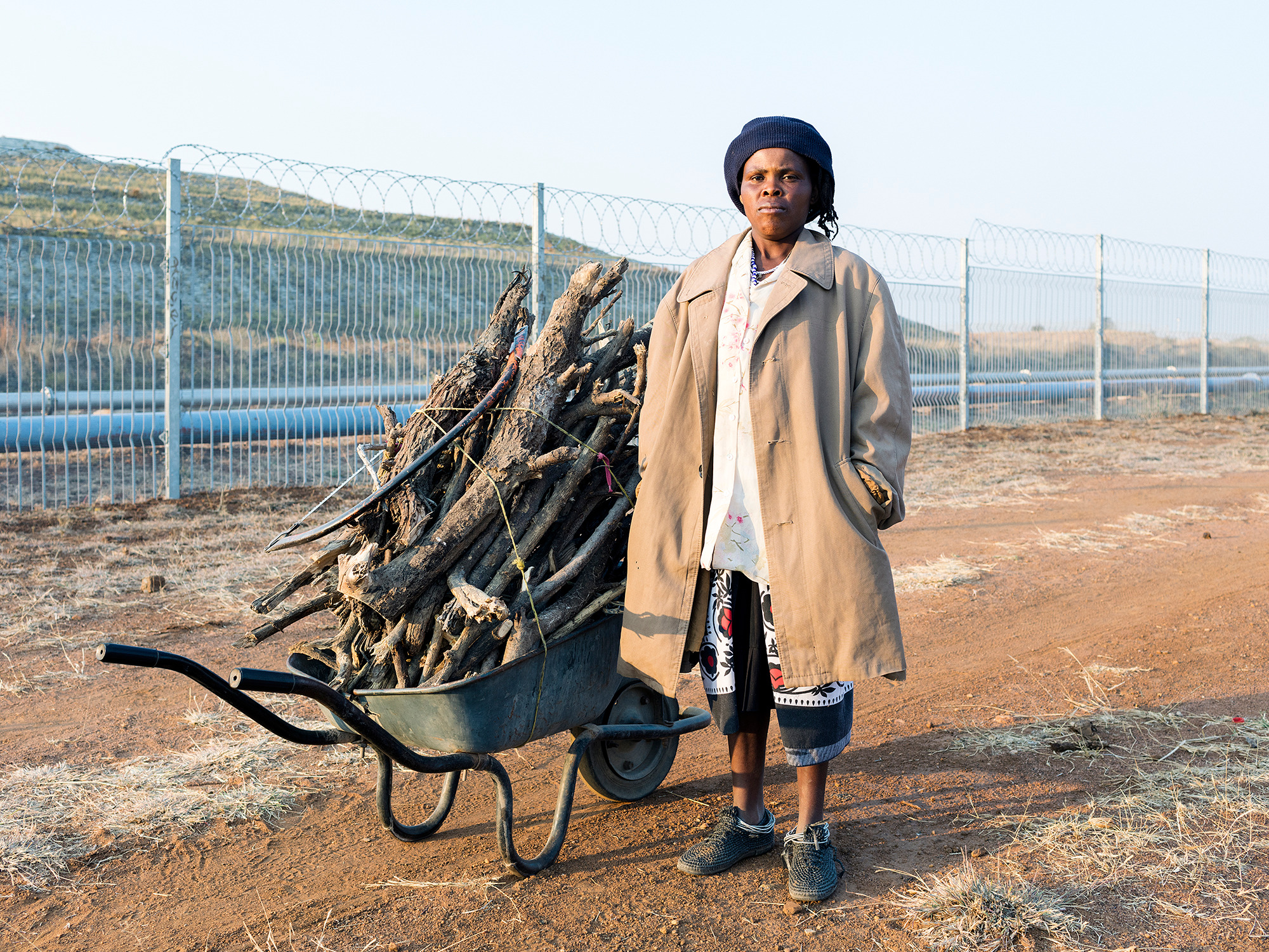 Anna Makgai, 33, Collecting wood, Ga-Molekane Village, Mapela, Limpopo, Northern Limb