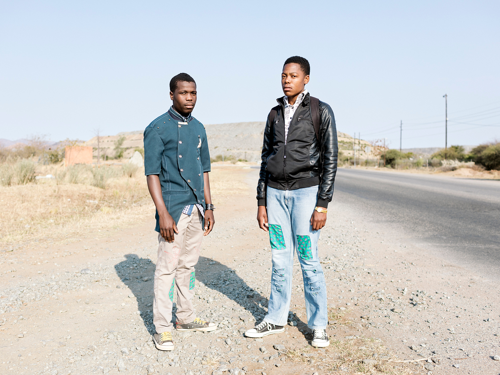 Jankie Mathebula, 18 and Solly Machoga, 19, Hans Village, Mapela, Limpopo, Northern Limb