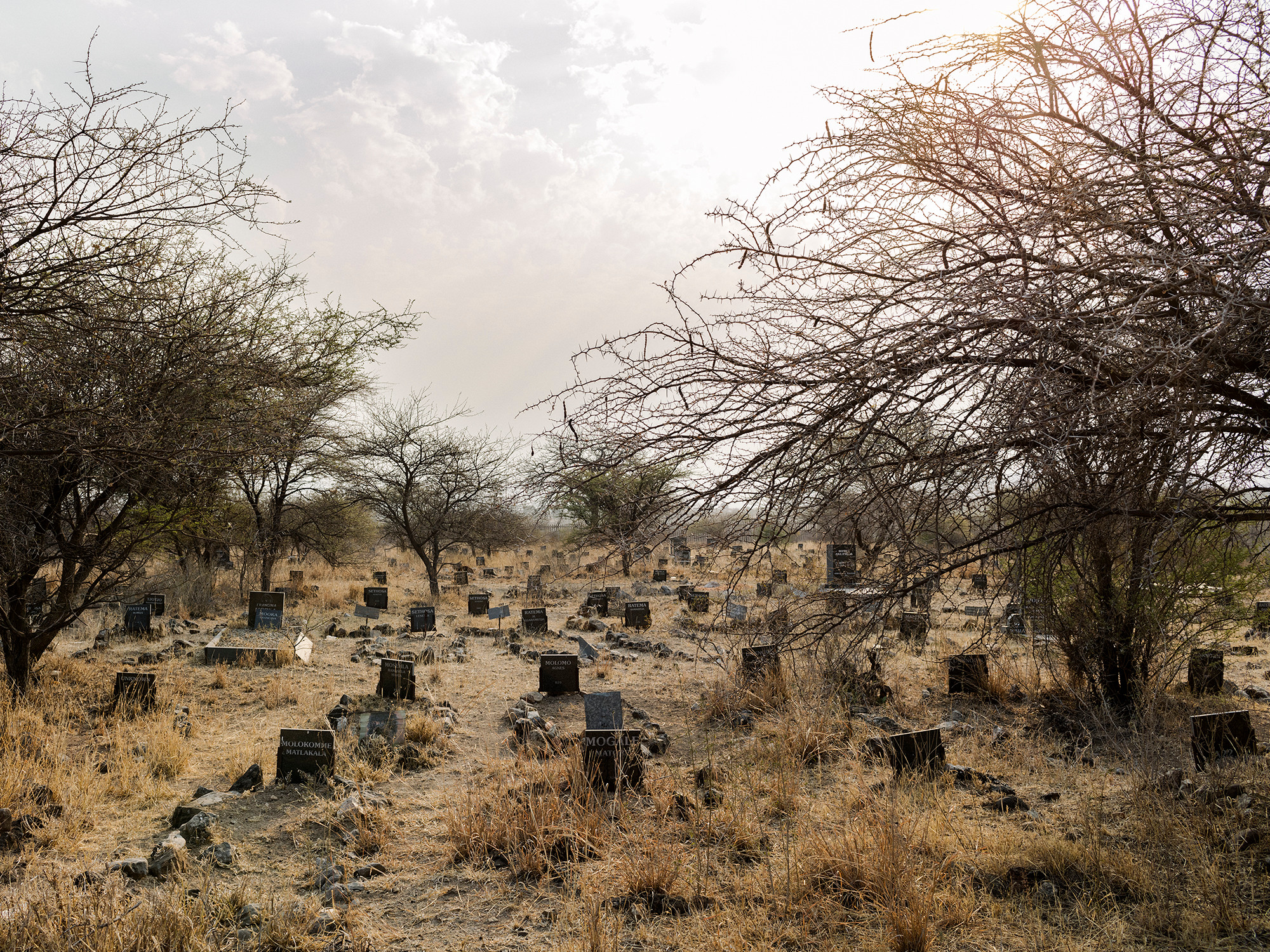 Relocated graves, Ga-Mashiane cemetery, Ga-Masenya, Mapela, Limpopo, Northern Limb